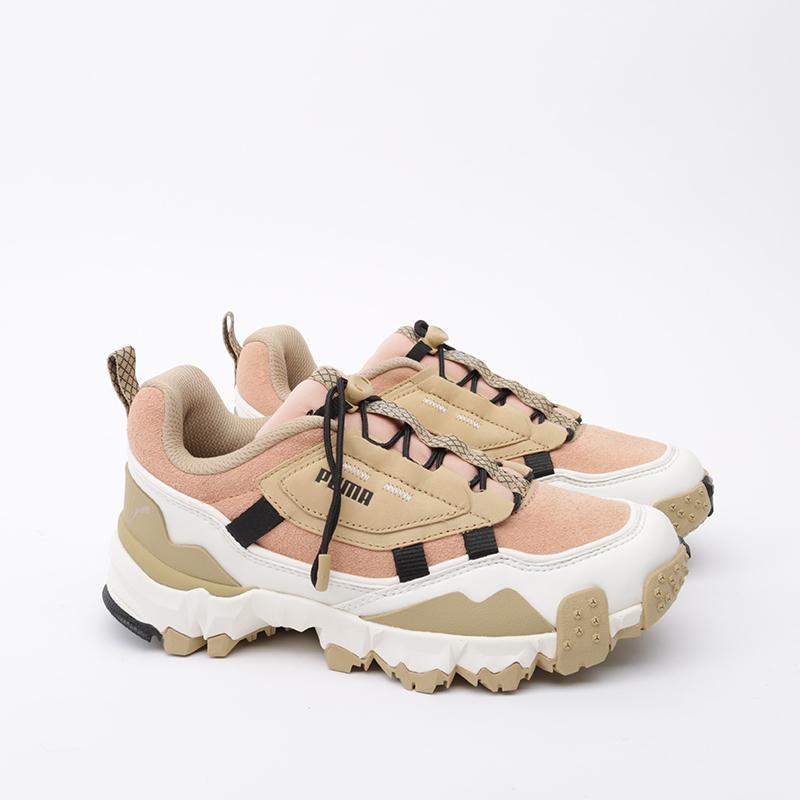 бежевые, розовые  кроссовки puma trailfox overland pg 37147501 - цена, описание, фото 2