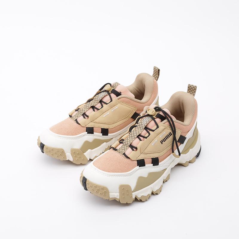 бежевые, розовые  кроссовки puma trailfox overland pg 37147501 - цена, описание, фото 5