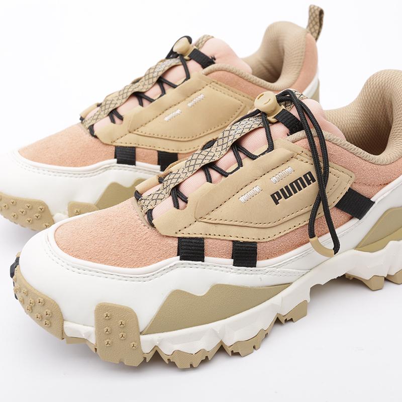 бежевые, розовые  кроссовки puma trailfox overland pg 37147501 - цена, описание, фото 6