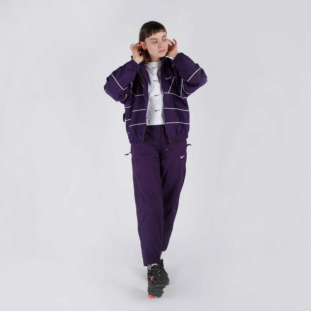женские фиолетовые  брюки nike track pant purple CQ4003-525 - цена, описание, фото 4