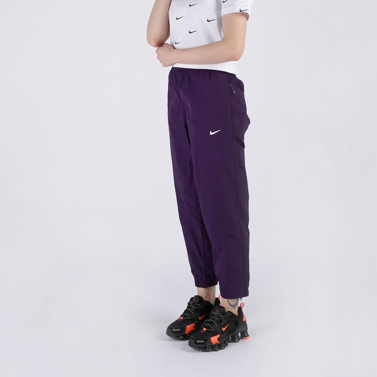 женские фиолетовые  брюки nike track pant purple CQ4003-525 - цена, описание, фото 3