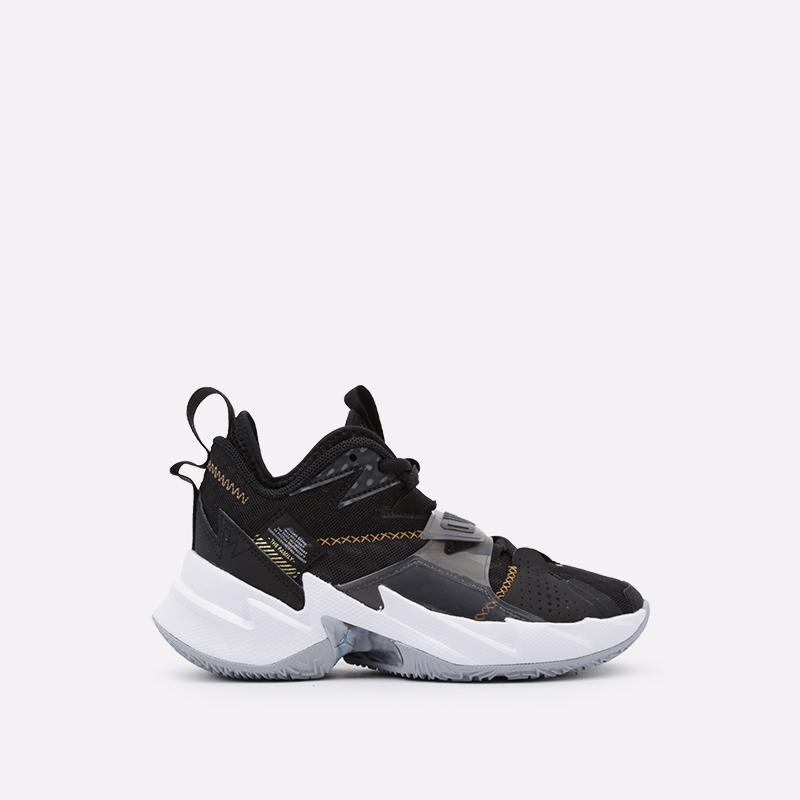 женские чёрные  кроссовки jordan why not zero.3 (gs) CD5804-001 - цена, описание, фото 1