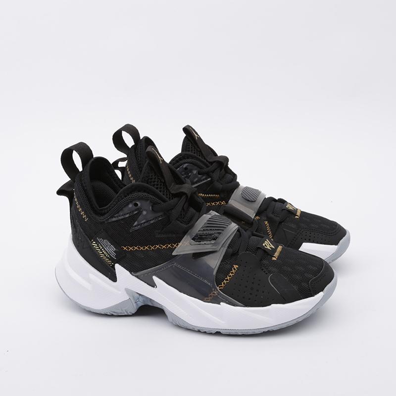 женские чёрные  кроссовки jordan why not zero.3 (gs) CD5804-001 - цена, описание, фото 2