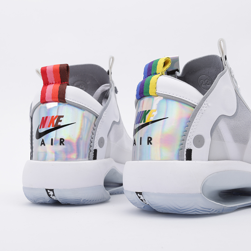 женские белые  кроссовки jordan xxxiv (gs) BQ3384-101 - цена, описание, фото 5