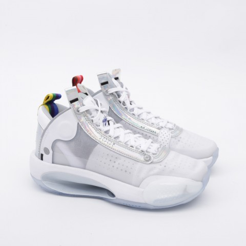 женские белые  кроссовки jordan xxxiv (gs) BQ3384-101 - цена, описание, фото 2