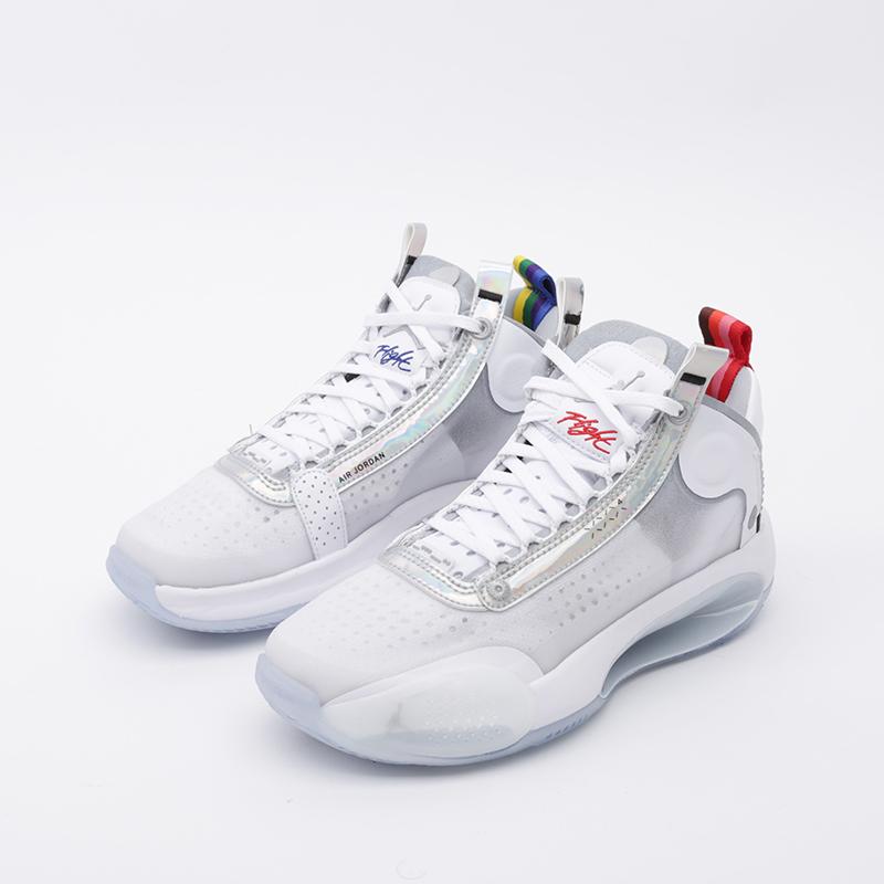 женские белые  кроссовки jordan xxxiv (gs) BQ3384-101 - цена, описание, фото 4