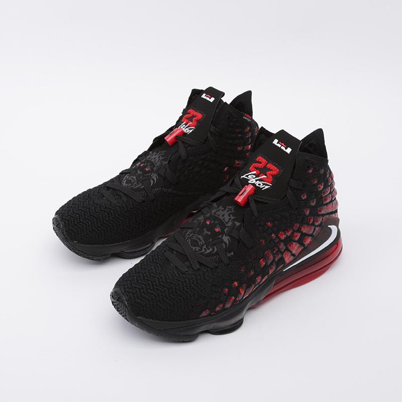 мужские чёрные  кроссовки nike lebron xvii BQ3177-006 - цена, описание, фото 4