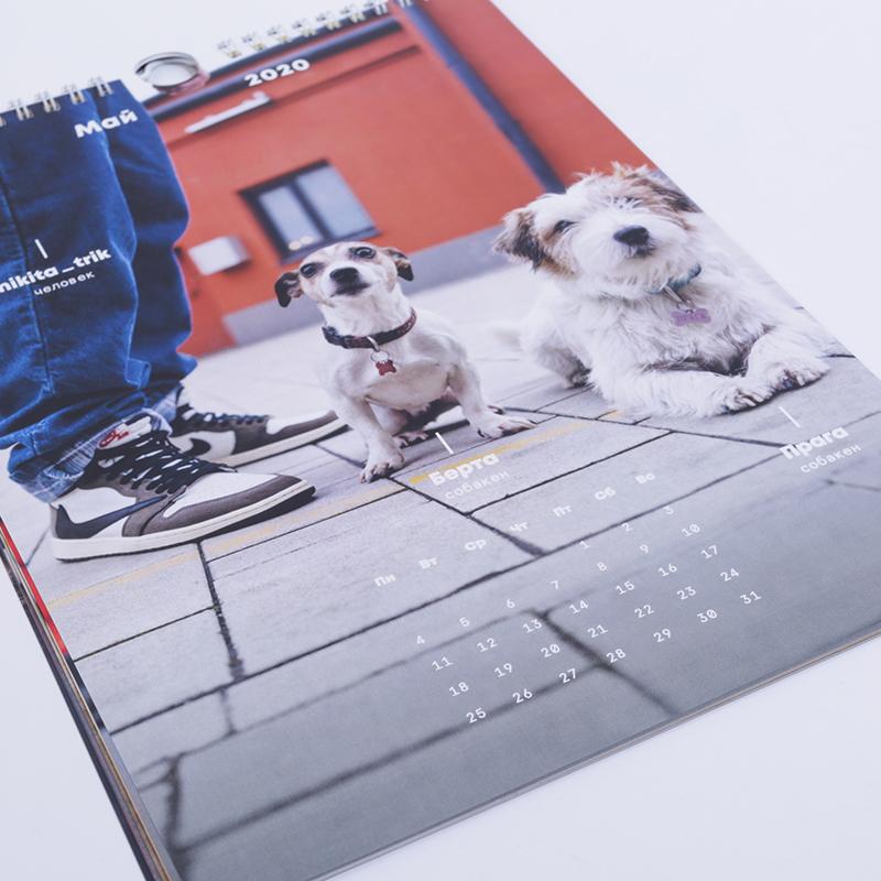 календарь  с собакенами 2020 - цена, описание, фото 3