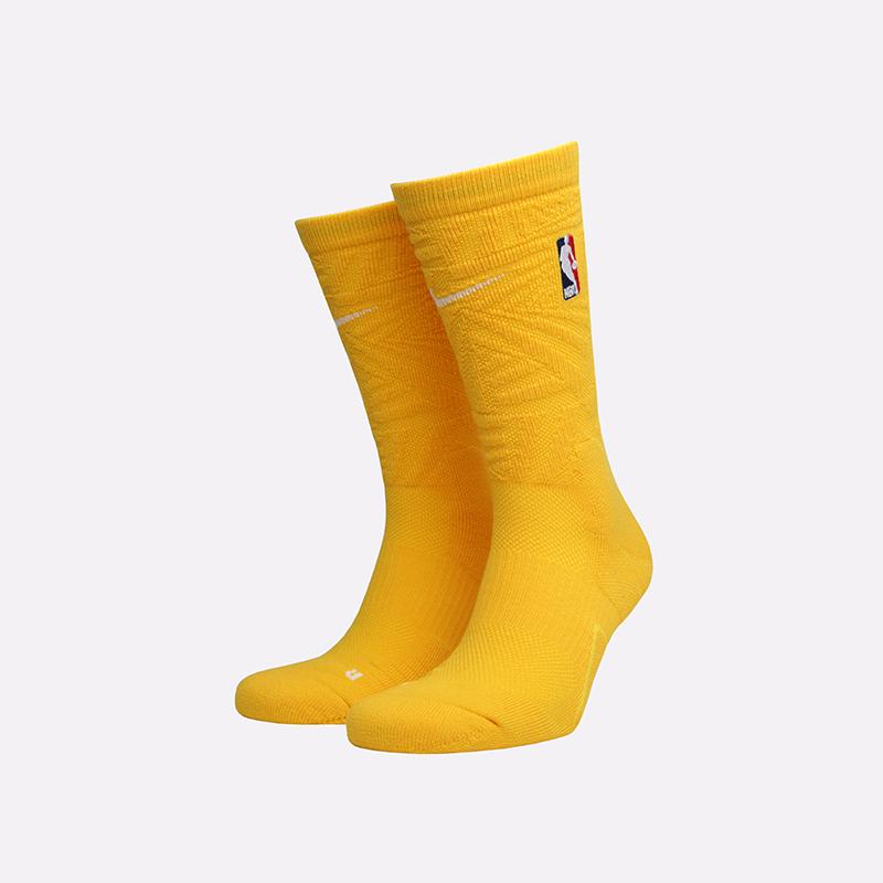 мужские жёлтые  носки nike elite crew SX7879-728 - цена, описание, фото 1
