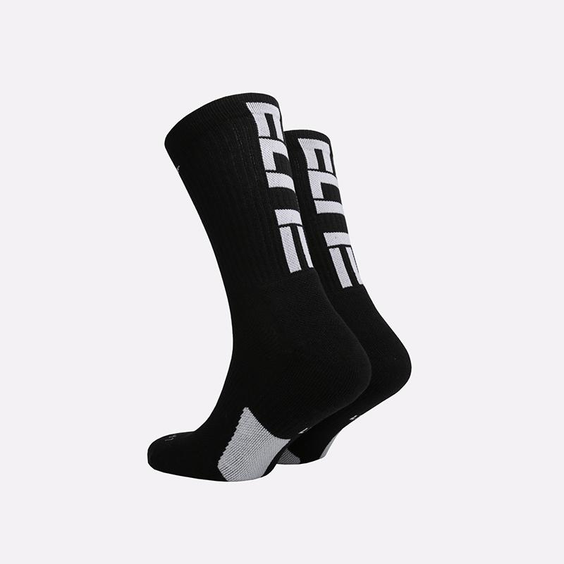 мужские чёрные  носки nike elite everyday crew SX7627-010 - цена, описание, фото 2