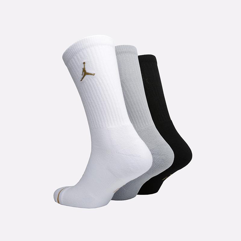 мужские белые, серые, чёрные  носки jordan everyday max crew SX5545-915 - цена, описание, фото 2