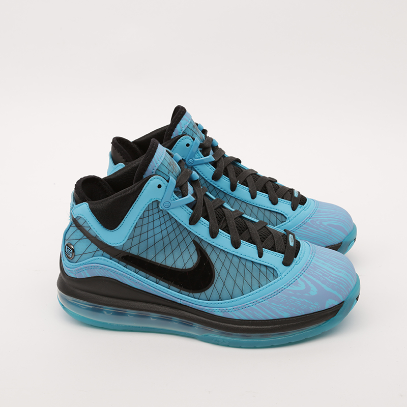 голубые  кроссовки nike lebron vii qs CU5646-400 - цена, описание, фото 2