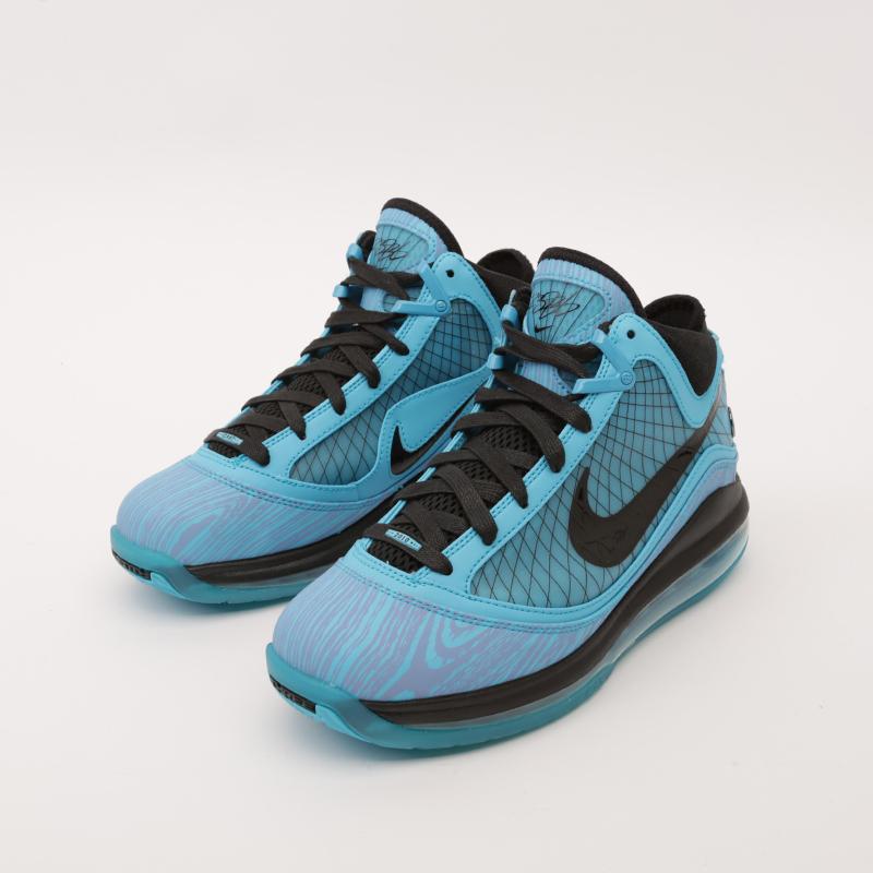 голубые  кроссовки nike lebron vii qs CU5646-400 - цена, описание, фото 3