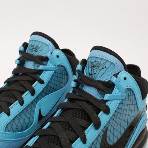 голубые  кроссовки nike lebron vii qs CU5646-400 - цена, описание, фото 5