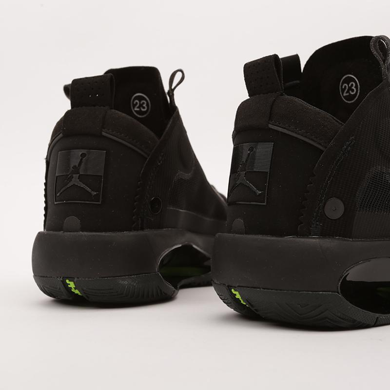 женские чёрные  кроссовки jordan xxxiv (gs) BQ3384-003 - цена, описание, фото 6
