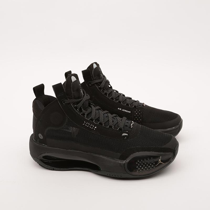 женские чёрные  кроссовки jordan xxxiv (gs) BQ3384-003 - цена, описание, фото 2
