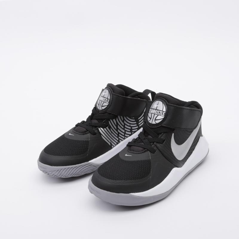 детские чёрные  кроссовки nike team hustle d 9 (ps) AQ4225-001 - цена, описание, фото 5