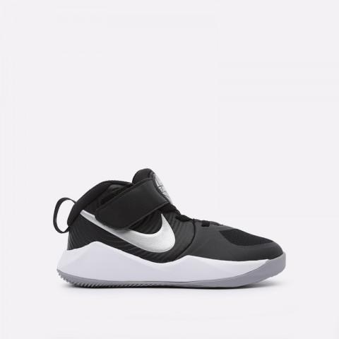 детские чёрные  кроссовки nike team hustle d 9 (ps) AQ4225-001 - цена, описание, фото 1