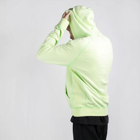 мужскую зеленую  толстовка jordan wings fleece  hoodie CD4567-380 - цена, описание, фото 2