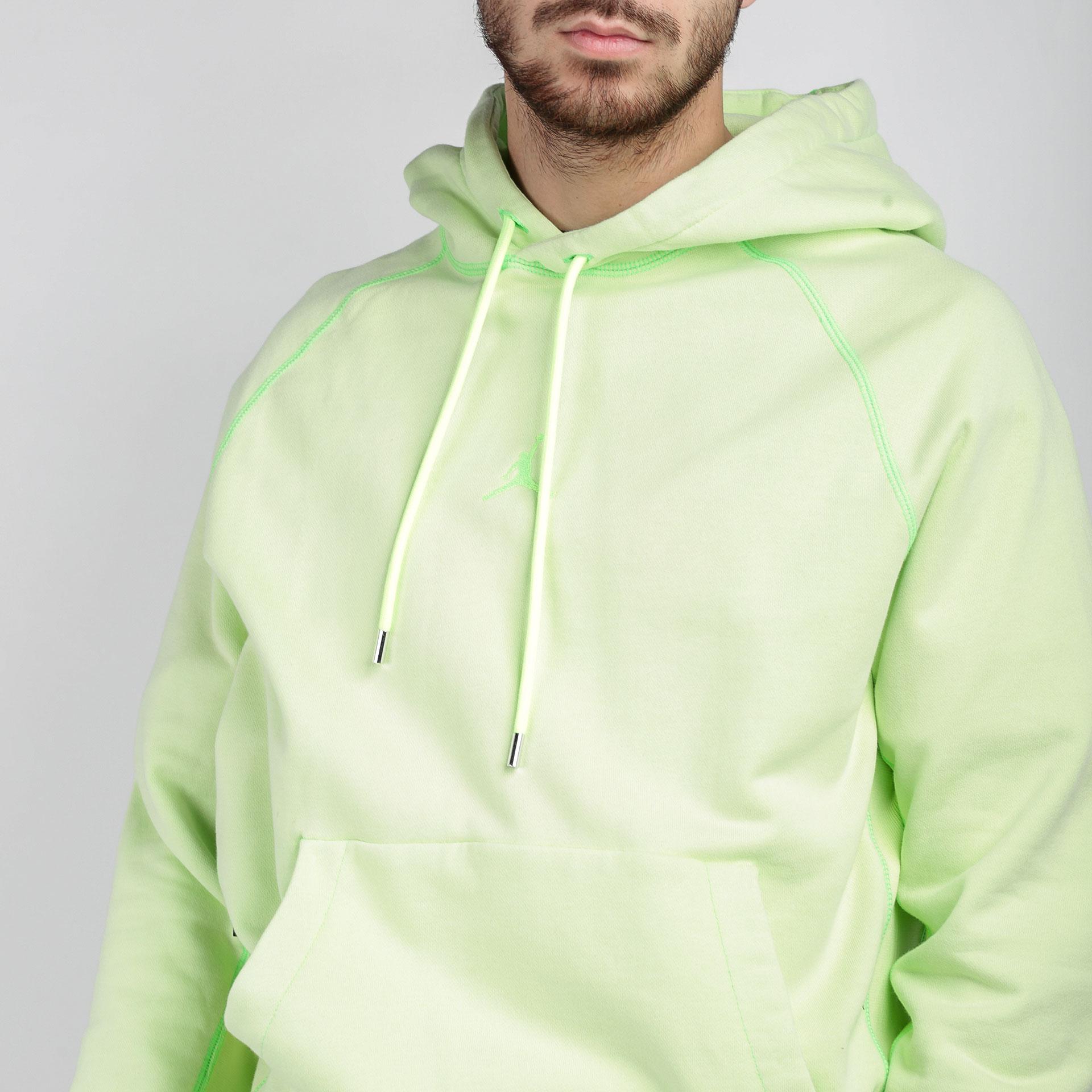мужскую зеленую  толстовка jordan wings fleece  hoodie CD4567-380 - цена, описание, фото 3