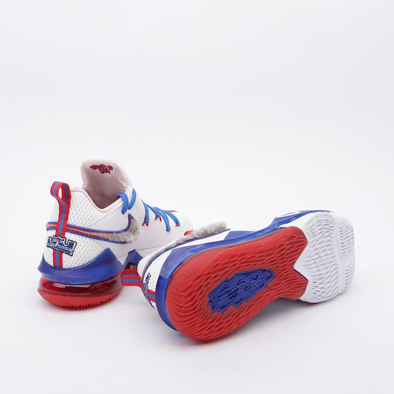 мужские белые  кроссовки nike lebron xvii low CD5007-100 - цена, описание, фото 2