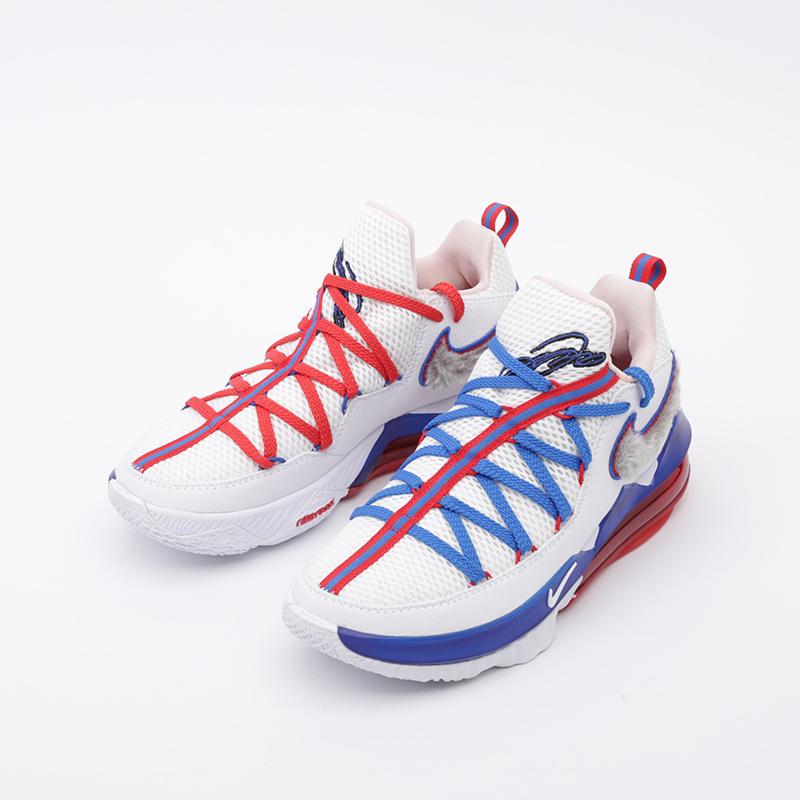 мужские белые  кроссовки nike lebron xvii low CD5007-100 - цена, описание, фото 5