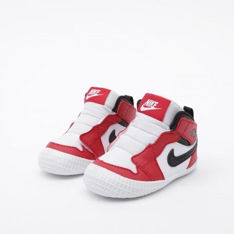 детские красные, белые  кроссовки jordan 1 crib bootie AT3745-163 - цена, описание, фото 5