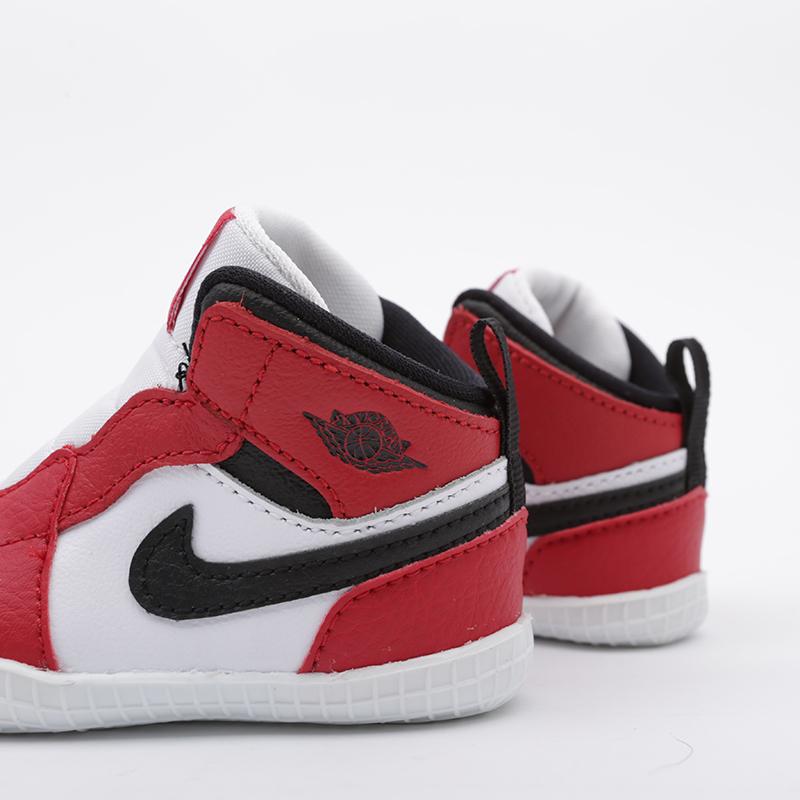 детские красные, белые  кроссовки jordan 1 crib bootie AT3745-163 - цена, описание, фото 4