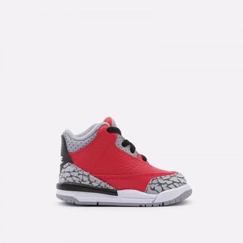 детские красные  кроссовки jordan 3 retro se (td) CQ0489-600 - цена, описание, фото 1