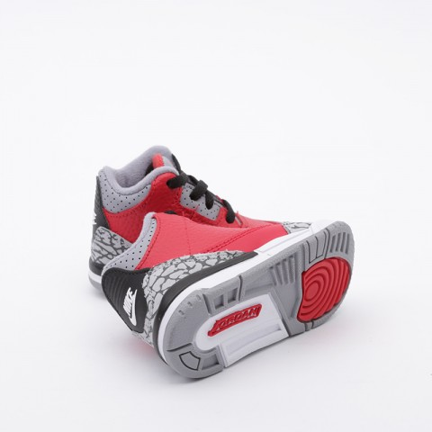 детские красные  кроссовки jordan 3 retro se (td) CQ0489-600 - цена, описание, фото 2