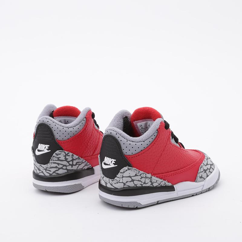 детские красные  кроссовки jordan 3 retro se (td) CQ0489-600 - цена, описание, фото 4