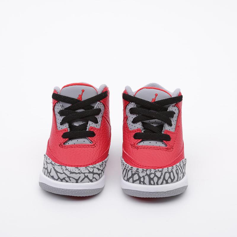 детские красные  кроссовки jordan 3 retro se (td) CQ0489-600 - цена, описание, фото 5