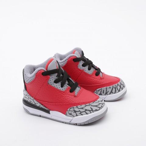 детские красные  кроссовки jordan 3 retro se (td) CQ0489-600 - цена, описание, фото 3