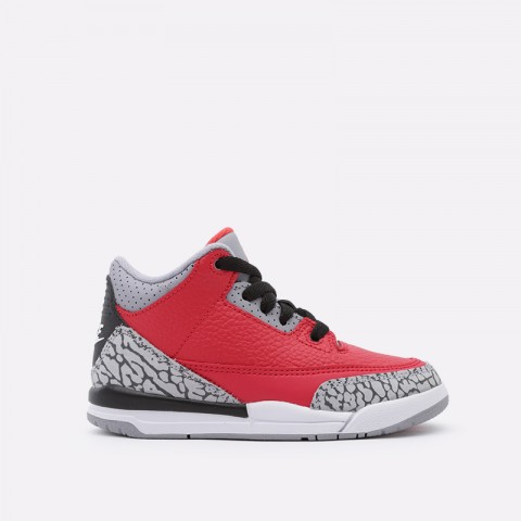 детские красные  кроссовки jordan 3 retro se (ps) CQ0487-600 - цена, описание, фото 1