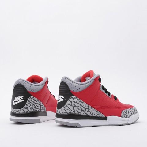 детские красные  кроссовки jordan 3 retro se (ps) CQ0487-600 - цена, описание, фото 4