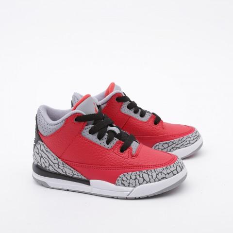 детские красные  кроссовки jordan 3 retro se (ps) CQ0487-600 - цена, описание, фото 3