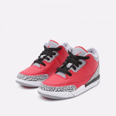 детские красные  кроссовки jordan 3 retro se (ps) CQ0487-600 - цена, описание, фото 5