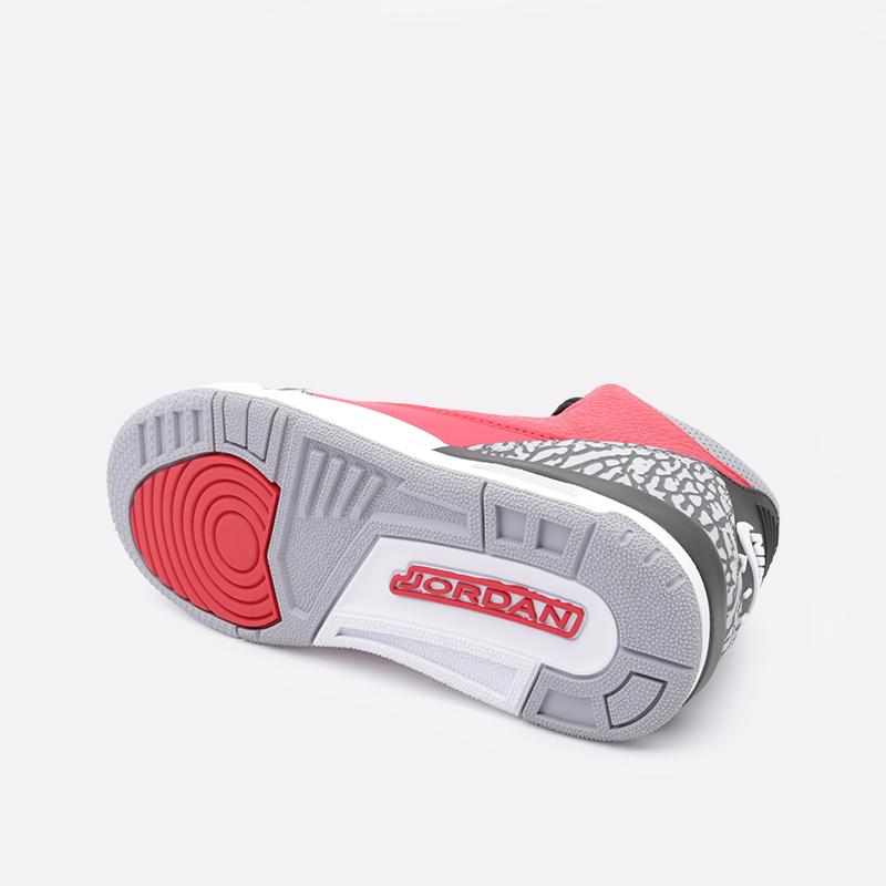 женские красные  кроссовки jordan 3 retro se (gs) CQ0488-600 - цена, описание, фото 2