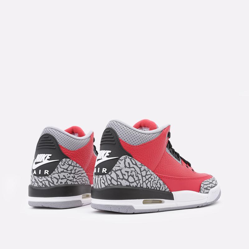 женские красные  кроссовки jordan 3 retro se (gs) CQ0488-600 - цена, описание, фото 4