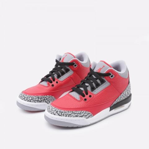 женские красные  кроссовки jordan 3 retro se (gs) CQ0488-600 - цена, описание, фото 5