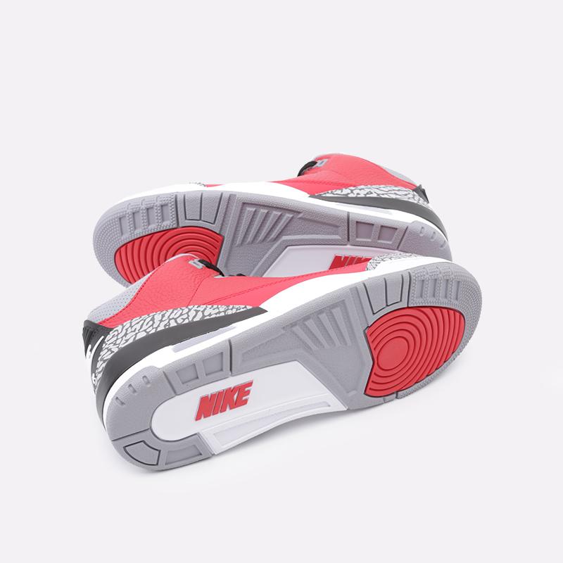 мужские красные  кроссовки jordan 3 retro se CK5692-600 - цена, описание, фото 2