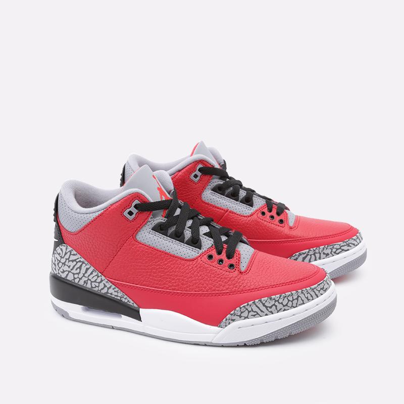 мужские красные  кроссовки jordan 3 retro se CK5692-600 - цена, описание, фото 3
