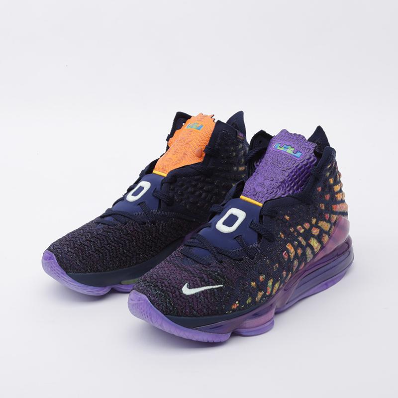 мужские фиолетовые  кроссовки nike lebron xvii as CD5050-400 - цена, описание, фото 5