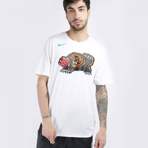 мужскую белую  футболка nike nba memphis grizzlies classic logo t-shirt AT2446-100 - цена, описание, фото 1