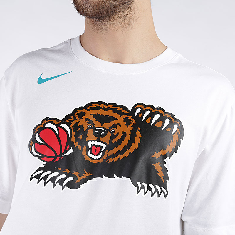 мужскую белую  футболка nike nba memphis grizzlies classic logo t-shirt AT2446-100 - цена, описание, фото 2