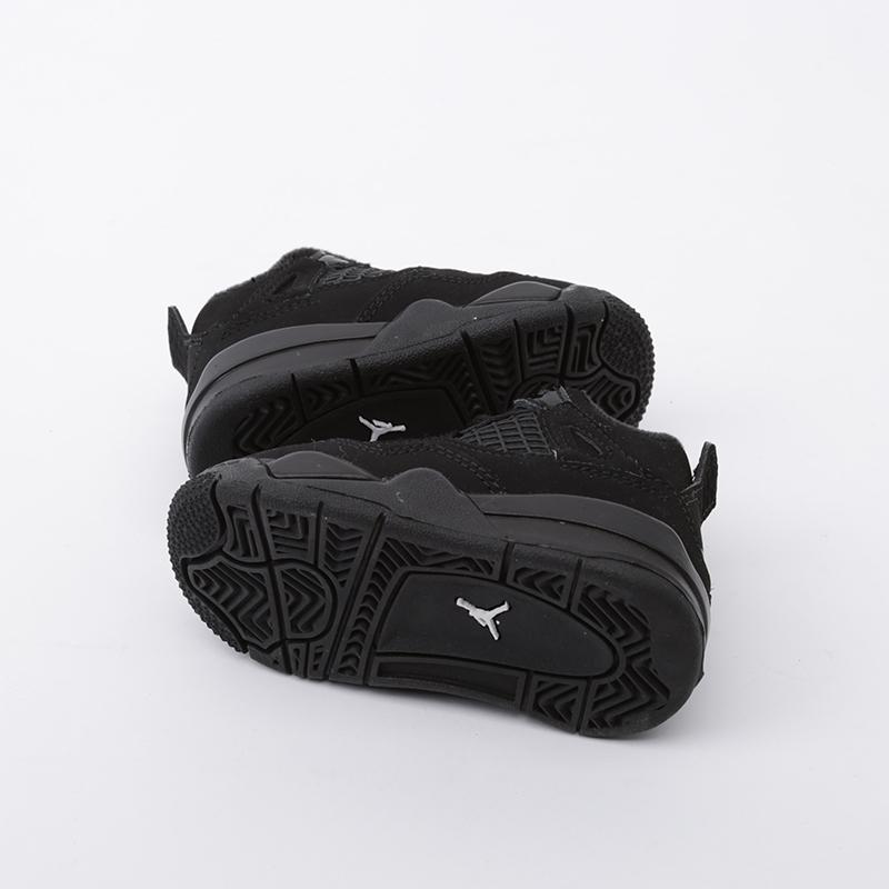 детские чёрные  кроссовки jordan 4 retro (td) BQ7670-010 - цена, описание, фото 5