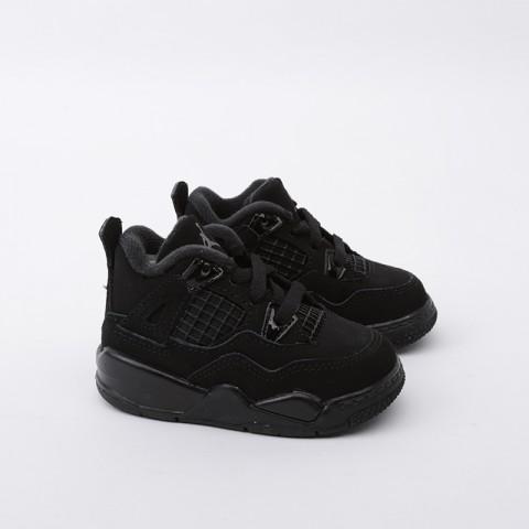 детские чёрные  кроссовки jordan 4 retro (td) BQ7670-010 - цена, описание, фото 2