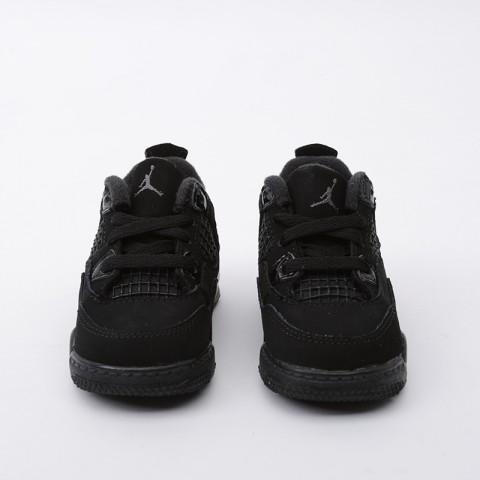 детские чёрные  кроссовки jordan 4 retro (td) BQ7670-010 - цена, описание, фото 3