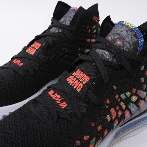 мужские чёрные  кроссовки nike lebron xvii BQ3177-005 - цена, описание, фото 6