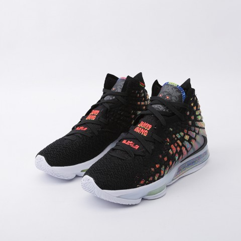 мужские чёрные  кроссовки nike lebron xvii BQ3177-005 - цена, описание, фото 5